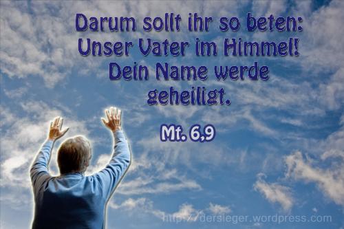 Vater Im Himmel Der Sieger Blog